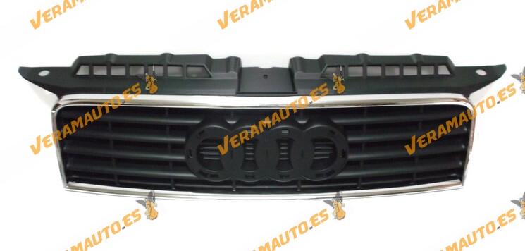 Rejilla de Frente Audi A3 8P años 2003 a 2005 Delantera negra con marco cromado OEM 8P38536513FZ