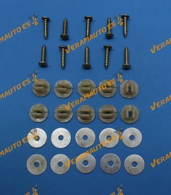 Juego Tornillería para Protección Bajo Motor Ford C-Max Focus MKI y MKII Kuga Mondeo MKIII Volvo S40 y V50