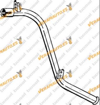 Tubo de Escape Mercedes MB 100D de 1988 a 1995, 2.4 Diesel