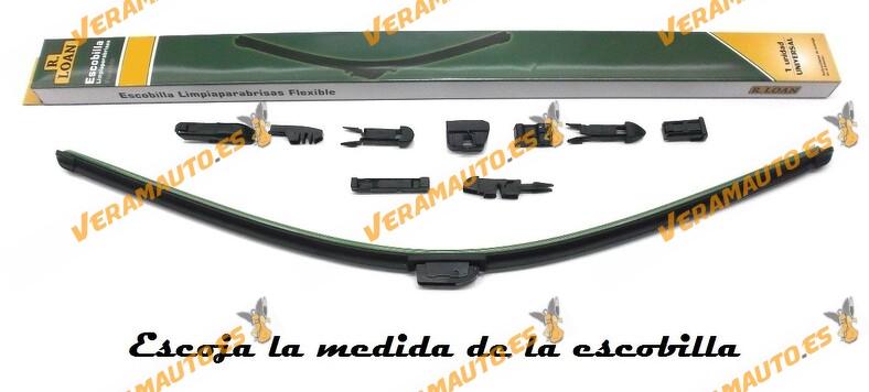 Escobilla Limpiaparabrisas Universal Flexible Calidad Máxima 10 Multi-Adaptadores adaptable al 99% de automóviles