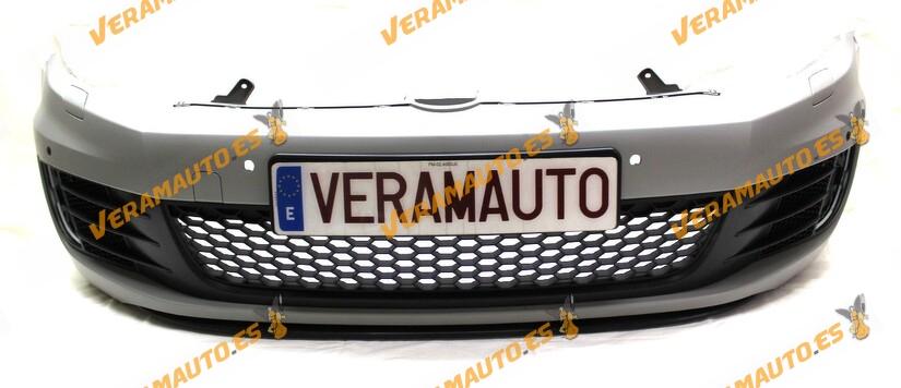 Paragolpes Delantero Volkswagen Golf VI Gti De 2009 a 2013 Completo con Rejilla Central, Rejillas con Hueco Antiniebla y Spoiler