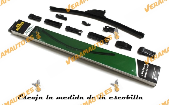 Escobilla Limpiaparabrisas Universal Flexible R.Loan Black Edition alta calidad 10 Multi-Adaptadores adaptable 99% automóviles