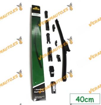 Escobilla Limpiaparabrisas Universal Flexible R.Loan Black Edition alta calidad 10 Multi-Adaptadores adaptable 99% automóviles