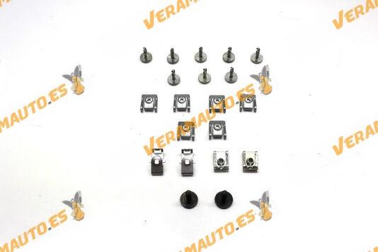 Juego de tornillería para protección bajo motor BMW serie 5 E60 y E61 de 2003 a 2010 Juego compuesto por 20 piezas
