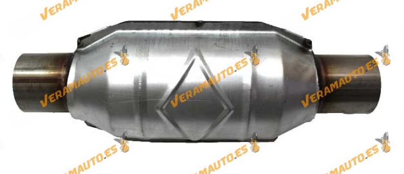 Catalizador modelos gasolina universal adaptable redondo con protección calorífica 57 mm diámetro interior Norma Euro IV