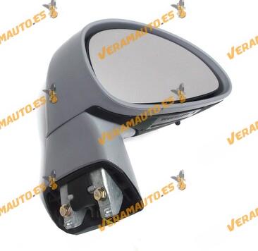Espejo Citroen C4 de 2004 a 2010 derecho eléctrico abatible piloto intermitente 3 conectores de 6, 2 y 2 pines OEM 8419YQ