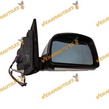 Espejo retrovisor BMW X5 E53 derecho, imprimado, eléctrico, térmico, memoria, abatible, cristal azul, 12+2pines OEM 51167039910