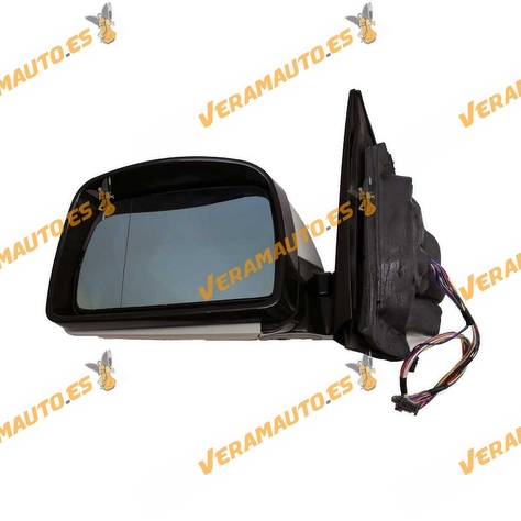 Espejo retrovisor BMW X5 E53 izquierdo, imprimado, eléctrico, térmico, memoria, abatible, cristal azul 12+2pines OEM 51167039909