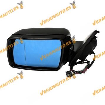 Espejo retrovisor BMW X5 E53 izquierdo, imprimado, eléctrico, térmico con cristal azul, conexión 5 pin OEM 51167039889