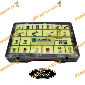Maletin de grapas de tapizados, molduras y paneles para Ford