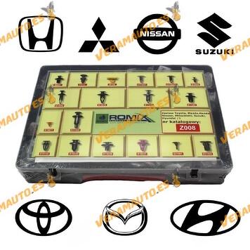 Maletin de grapas de tapizados, molduras y paneles para Toyota, Honda, Hyundai