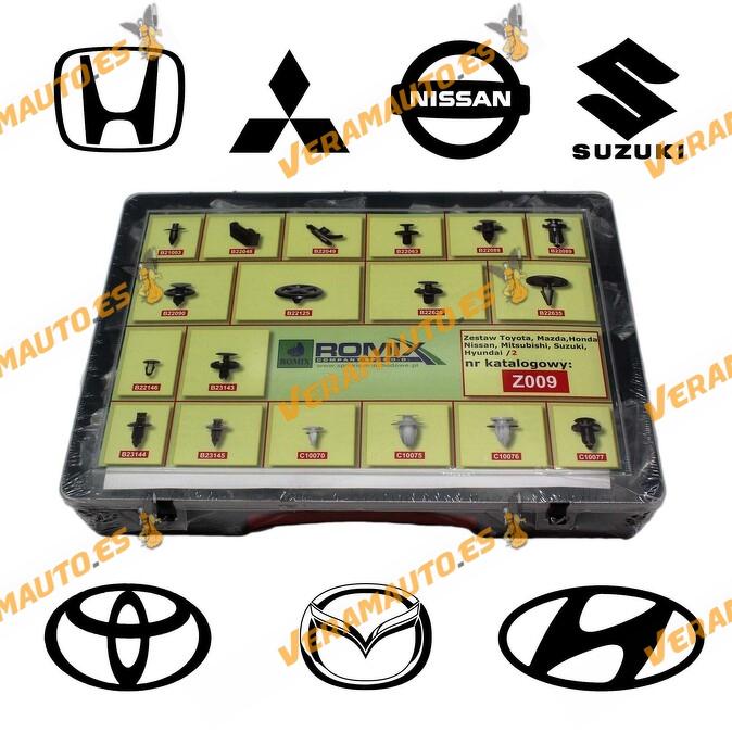 Maletin Nº2 de grapas de tapizados, molduras y paneles para Toyota, Mazda, Honda, Suzuki, Hyundai, Mitsubishi