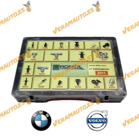 Maletin de grapas de tapizados, molduras y paneles para BMW y Volvo