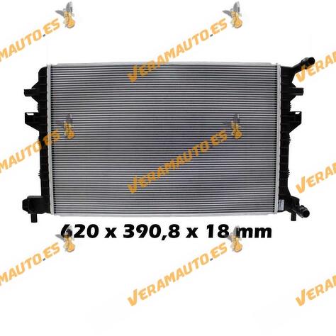Radiador, refrigeración del motor A3 8V, León 5F, Octavia 5E, Golf VII 5G, Passat B8, Tiguan 5Q01212051GF, 5Q0121251EJ