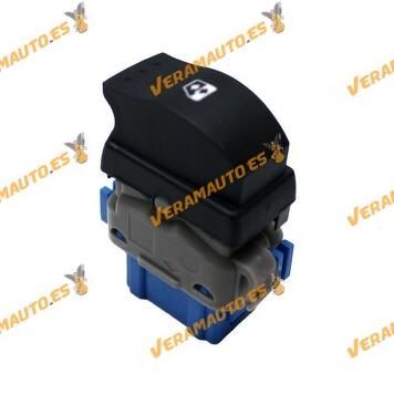 Interruptor de elevalunas Renault Kangoo III, Master, Opel Movano, Nissan NV400. Ficha azul de 6 pines similar a 8200476809