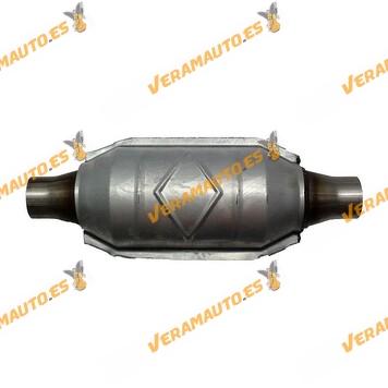 Catalizador modelos gasolina universal adaptable redondo con protección calorífica 64 mm diámetro interior Norma Euro IV - incl