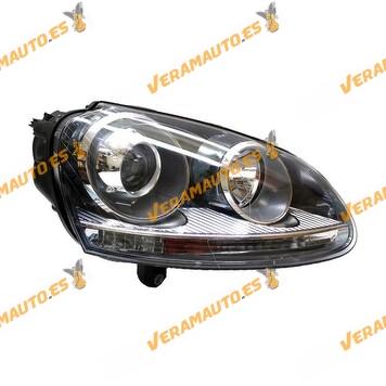 Faro xenon Volkswagen Golf V / Jetta desde años 2003 a 2008 Derecho para lámpara D2S y H7 OEM 1K6941040