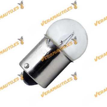 Lámpara P21W Halógena con filamento Simple 12v 5w Casquillo / Polo Centrado Base BA15s