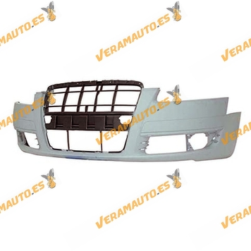 Front Bumper Audi A6 from 2004 to 2008 Printed with Sensor Hole or Headlamp Washer
