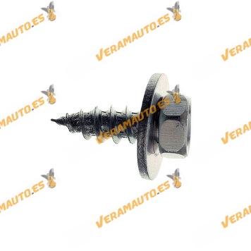 RO45168-Set-de-10-Tornillos-de-montaje-metálicos-6,3-x-17-mm-Mercedes-Audi-Volkswagen-Similar-a-1470997
