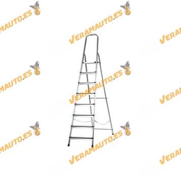Escalera de Aluminio 485 de 8 Peldaños | Carga máxima 150 Kg