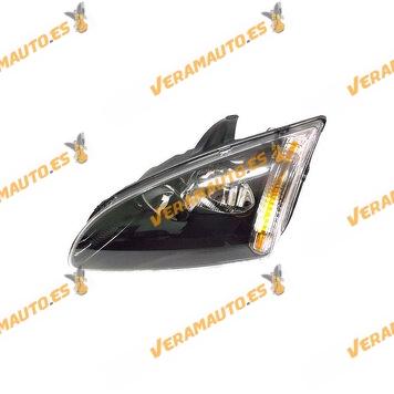 faro ford focus del 2005 al 2007 fondo negro lamparas h7 h1 delantero izquierdo