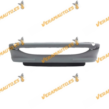 Bumper Peugeot 206 from 1998 to 2009 Front printed without antifog hole OEM Similar to 7401N2