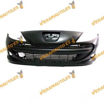 Front Bumper Peugeot 206 PLUS from 2009 to 2012 with Bumper Central Grille Frame Printed similar to 7401RX
