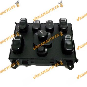 Conjunto Botonera Mercedes ML W163 de Elevalunas Regulacion de Espejos Retrovisores Cierre Centralizado OEM similar 1638206610