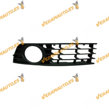 Bumper Grille Audi A4 from 2000 to 2004 with Left Antifog Hole Similar to 8e0807681