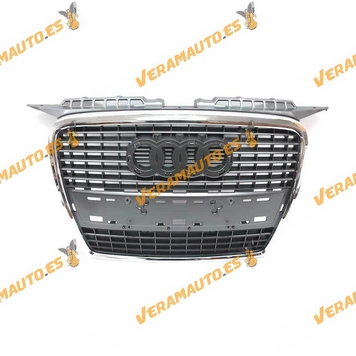 Front grille Audi A3 Sportback Year 2005 to 2008 without Anagram chrome plating Dark grey Similar 8P48536511QP