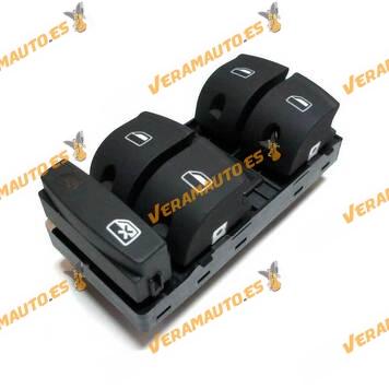 Conjunto Botonera Elevalunas Audi A3 8P o A6 4F o Q7 mkI Equivalente OEM 4F0959851F 10 Pin