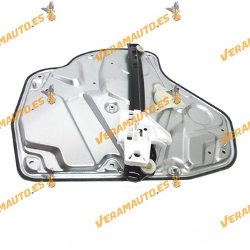 Window Operator Skoda Octavia from 2004 to 2008 Rear Left without Engine with Plate OEM Similar to 1Z1839461