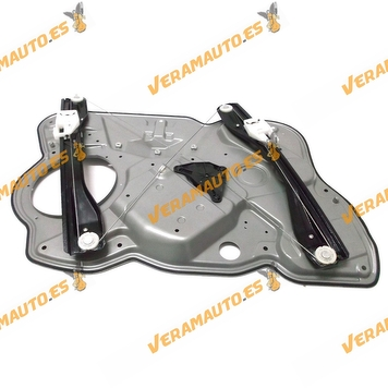 Window Operator Skoda Octavia from 2004 to 2007 Front Right with Plate without Engine OEM Similar 1Z1837462