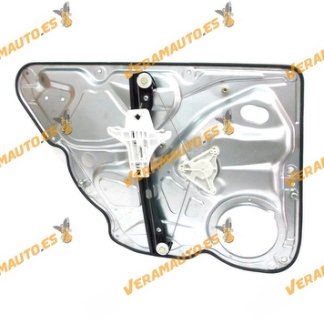 Electric Window Operator Volkswagen Passat from 2005 to 2010 Rear Right with Plate without Engine OEM similar to 3C5839462J