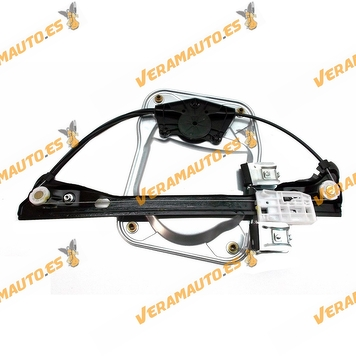 Electric Window Operator Electrico Skoda Fabia from 2007 to 2010 Front Right with Plate without Engine Similar to OEM 5J4837462
