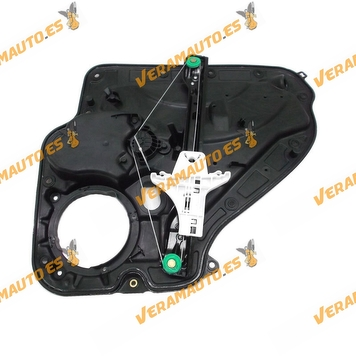 Electric Window Operator Volkswagen Golf VI from 2008 to 2012 Rear Left with Plate without Engine OEM Similar to 5K0839461