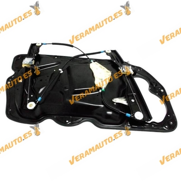 Electric Window Operator Volkswagen Passat from 2005 to 2010 Front Right with Plate without Engine OEM Similar 3C1837462F