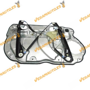 Window Operator Volkswagen Polo from 2001 to 2009 Front Right with Plate 4 Doors without Engine OEM Similar to 6Q4837462