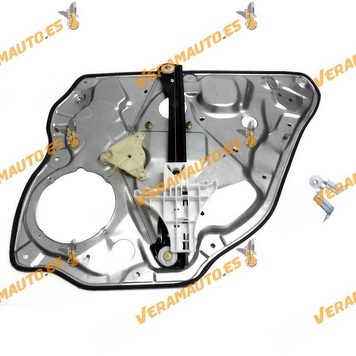 Window Operator Volkswagen Polo from 2001 to 2009 Rear Left with Plate 4 Doors OEM Similar 6Q4839461