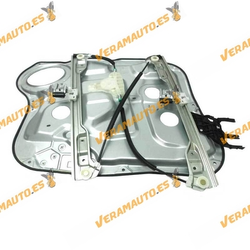 Electric Window Operator Hyundai Santa Fe from 2006 to 2010 Front Right with Plate without Engine OEM Similar to 824712B000