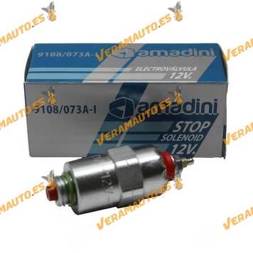 Electrovalvula | Corte Inyeccion Combustible Bomba Inyectora Delphi y Lucas CAV | OEM Similar a 9108073A | 9108-073A