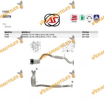 Catalizador Específico Ford Mondeo 1.6i 16v Tipo Zh16 | Zh18 OEM Similar a 1063254