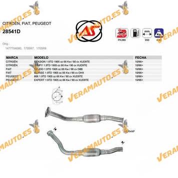 Catalizador Específico Citroen Evasion | Jumpy | Fiat  Scudo | Ulysse | Peugeot 806 | Expert 1.9td Xud9te OEM 1477704080