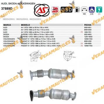 Catalizador Específico A4 | Super B | Passat IV | 1.9TDi | 1896 cc | OEM Similar a 3B0254200HV | 3B0254200HX | 4B0254200HX