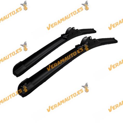 Escobilla Limpiaparabrisas Universal Flexible R.Loan Black Edition alta calidad 7 Multi-Adaptadores