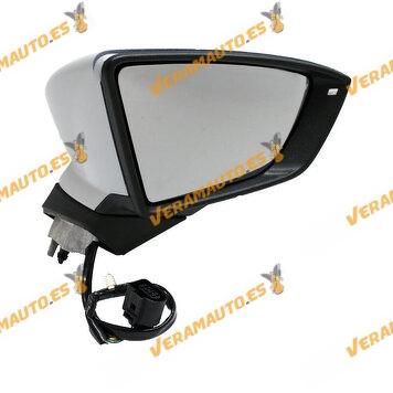 copy of Espejo Retrovisor Seat Leon De 2012 a 2020 Electrico Abatible Imprimado Izquierdo Con Intermitente   OEM 5F0857521A