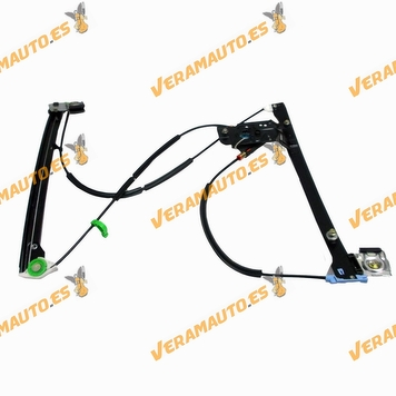 Electric Window Operator Volkswagen Polo from 1994 to 2001 Front Left without Engine 3 Doors 2 Pins OEM Similar to 6N4837461