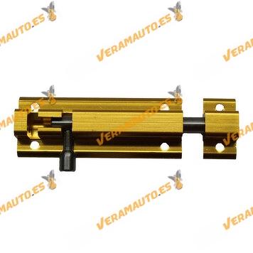 Pasador | Pestillo Con Tornillos | 80 mm X 30 mm | Aluminio Oro INOX