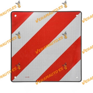 Signal metal plate for outgoing loads. Homologation V-20.  Made of aluminum size 500x500mm
